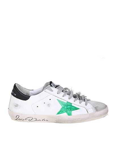 GOLDEN GOOSE G34MS590N41 Hombre Blanco Cuero Zapatillas: Amazon.es: Zapatos y complementos