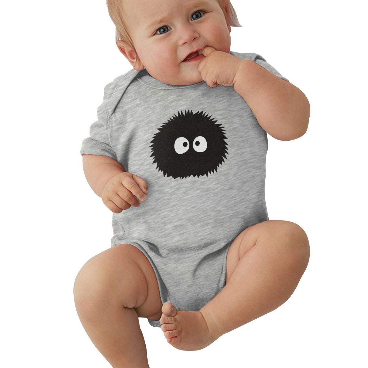 HuoFengDing Dust Bunny Short-Sleeve Jumpsuits for Baby Black