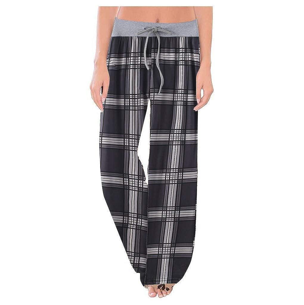 Pantalones Pantalones Mujer Yoga Anchos Tallas Grandes Primavera Luckygirls 2020 Chic Pantalones Chandal Mujer Verano Deportivos Elasticos Cuadros Pantalones Cintura Alta Rectos Vestir Leopardo Ropa