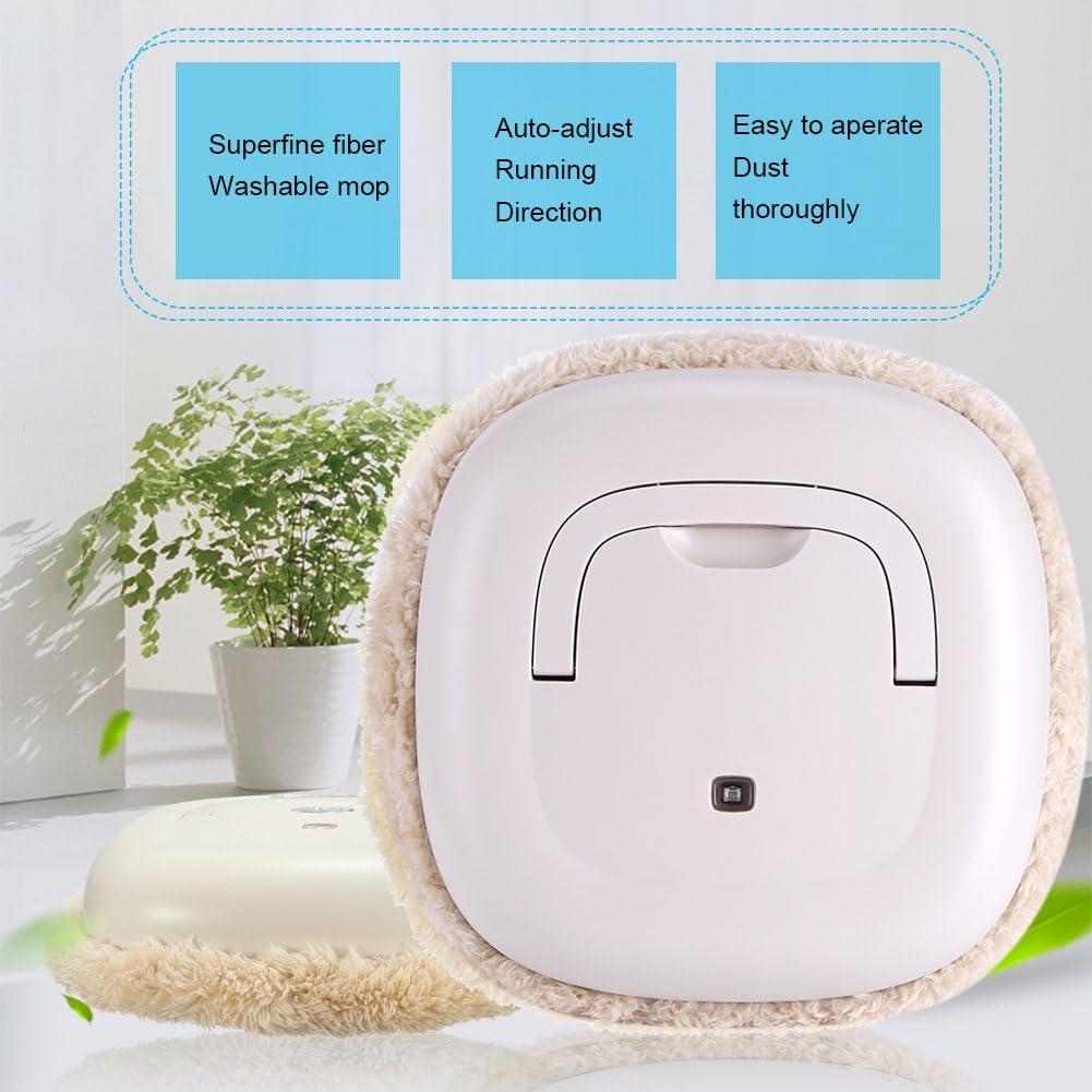 Robot de microfibra autom/ático Robot de limpieza lavable Cepillo de limpieza Robot Aspirador Robot Aspirador Beige