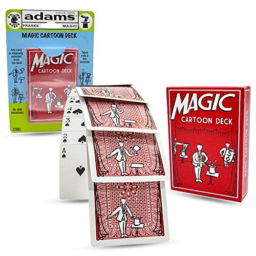 Magic Cartoon Trick Deck by Adams Pranks and Magic Classic Novelty Magic ()