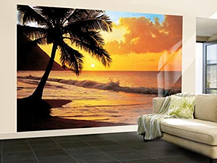 Amazoncom 100x144 Pacific Sunset Huge Wall Mural Art Home Kitchen