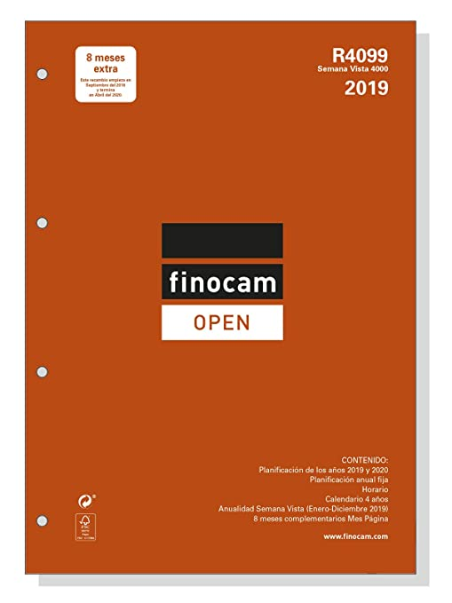 Amazon.com : Finocam 711640019 - Year Refill 2019 : Office ...
