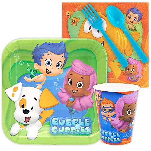 Halloween Costumes Ideas For Preschool Teacher (Bubble Guppies Birthday Party Standard Tableware Kit Serves 8)