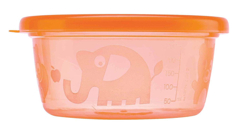 Amazon.com: Nuby lavar o Toss cuencos con tapa, 8 ounce, los ...