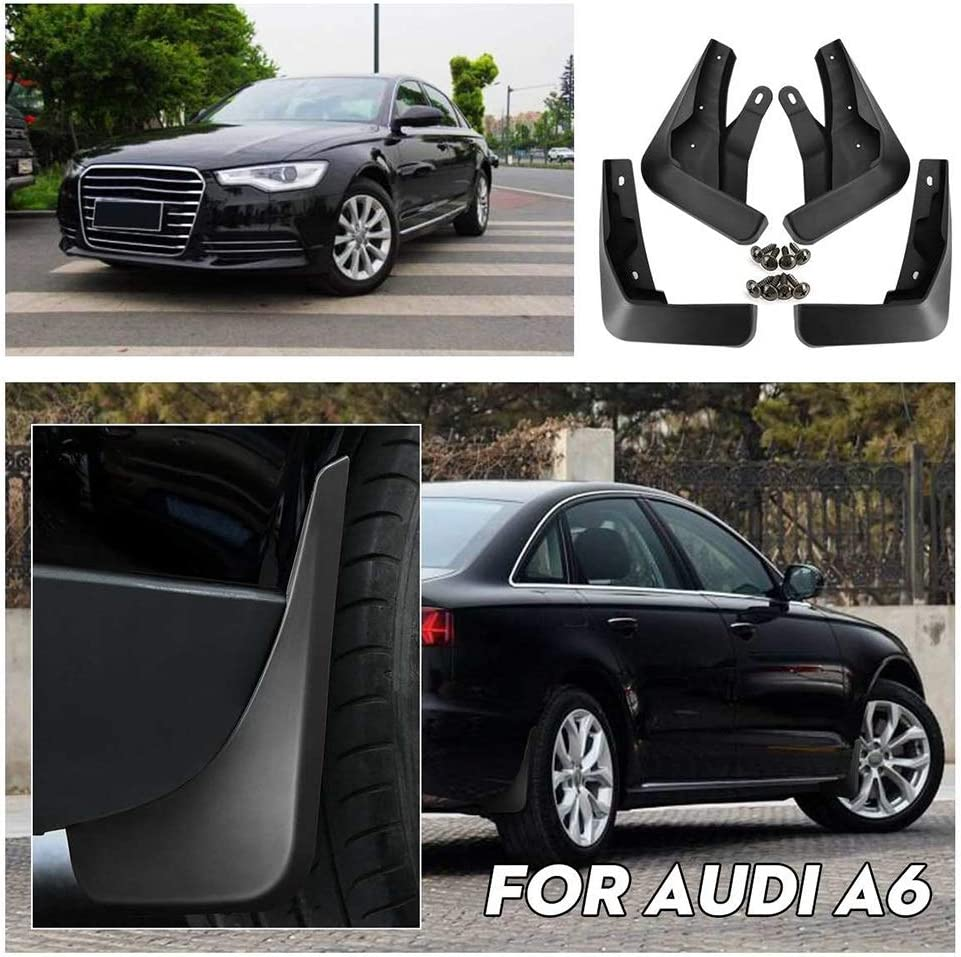 C7 Barture Garde-Boue De Voiture Bavette Voiture Garde-Boue Avant Et Arri/ère pour Audi A6 Berline//Berline//Avant 2015 2016 2017 2018 2019 Accessoires De Voiture