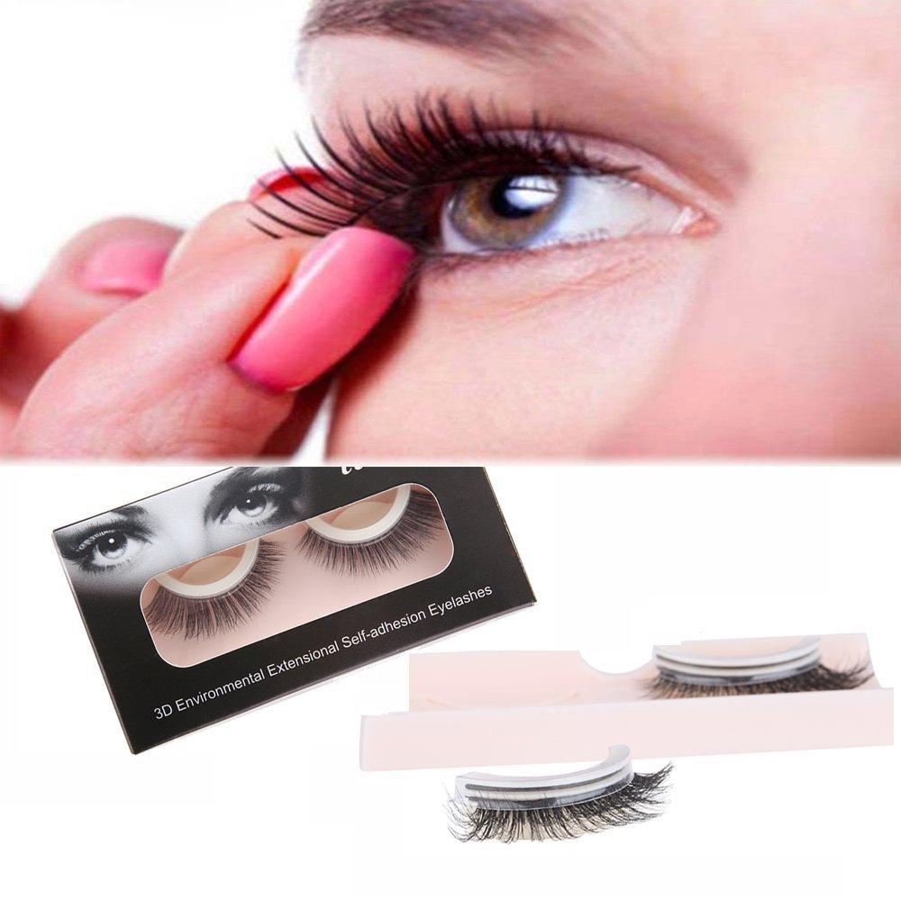 Amazon Self Adhesive Eyelashes Ainatu 3d Reusable And Easy To