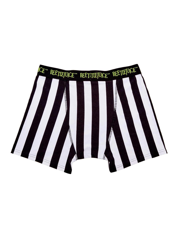 Beetlejuice Black /& White Striped Boxer Briefs
