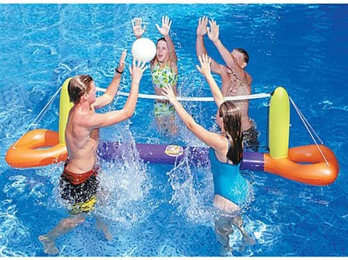 "11.5\"" Inflatable Orange und Yellow Floating Volleyball Game für die Swimming Pool"