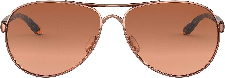 Oakley Women's OO4079 Feedback Aviator Metal Sunglasses