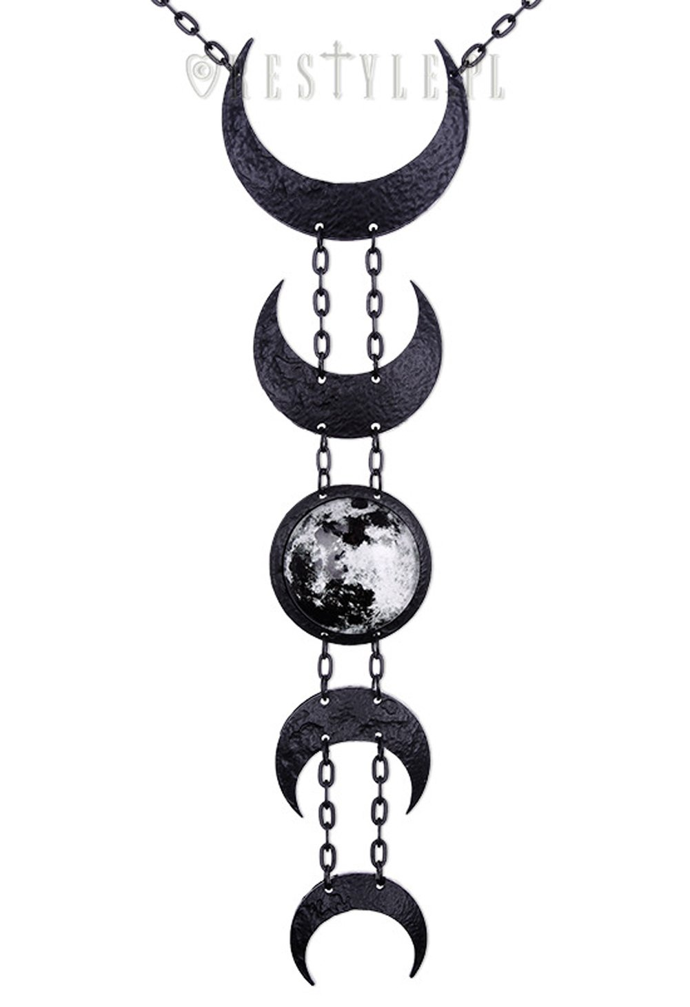 Restyle Lunar Black Necklace by RE Style