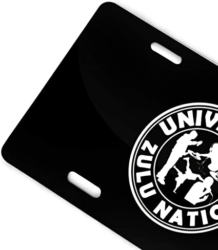 MYGED Metal Funny Universal Zulu Nation Plaque dimmatriculation Plaque de Voiture 6 X 12