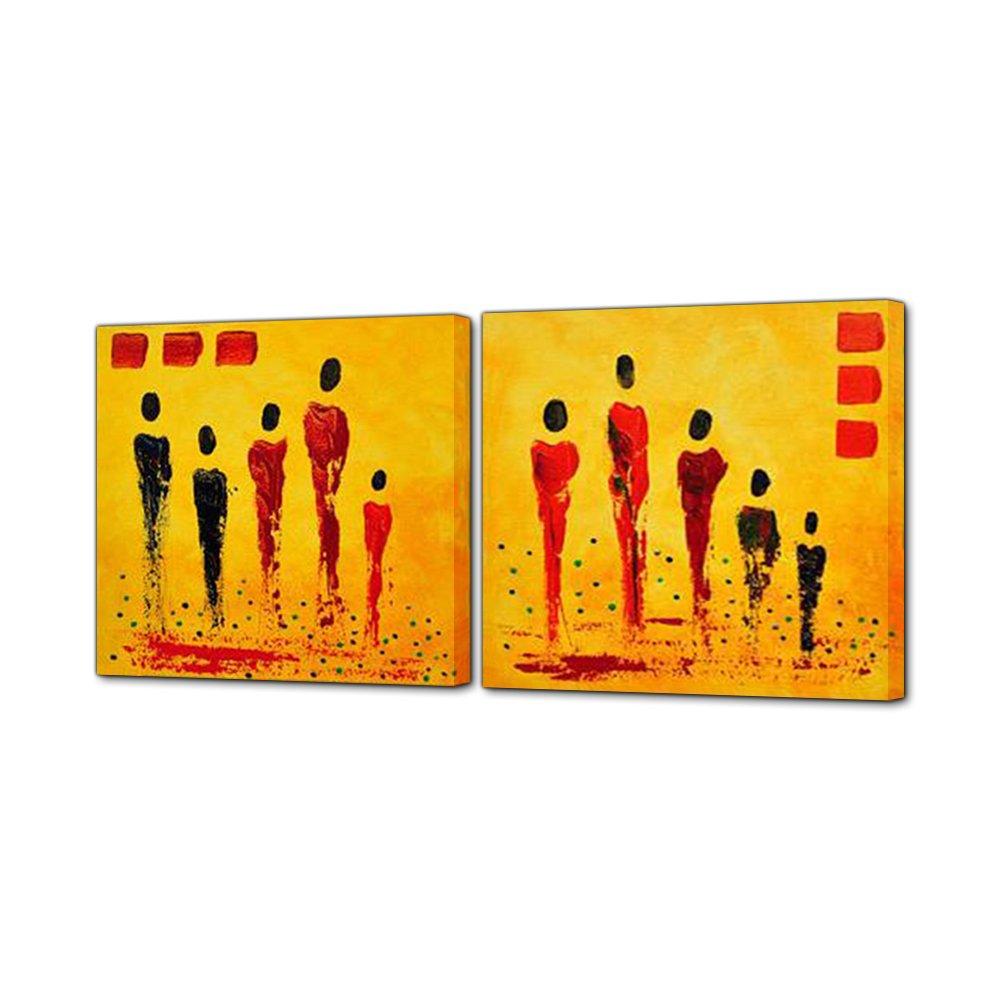 IPLST@ Gruppe Ölgemälde Abstrakt Menschen Figur Gelb Leinwand Kunst ...