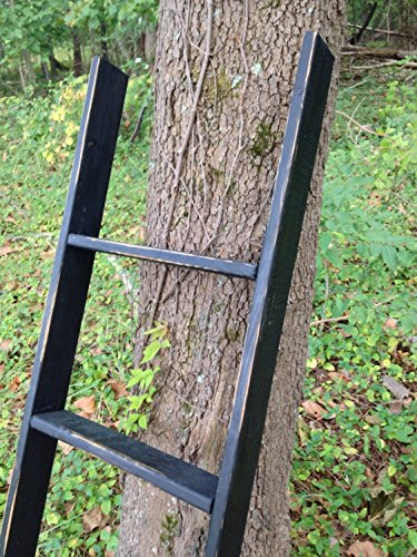 Rustic Ladder, 60'' Distressed Blanket Ladder, Quilt Ladder, Leaning Ladder, Pot Rack, Custom Built by The Appalachian Artisans