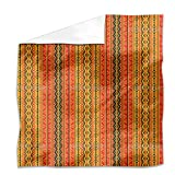 Poncho Is Wandering On Stripes Flat Sheet: King Luxury Microfiber, Soft, Breathable