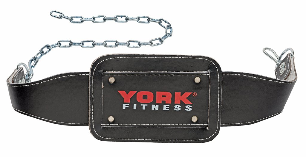 York Fitness Cinturón con cadena para musculación color negro