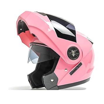 Cascos Casco Half Facelift Helmet/Double Lens Casco de moto/Hombres y Mujeres Four
