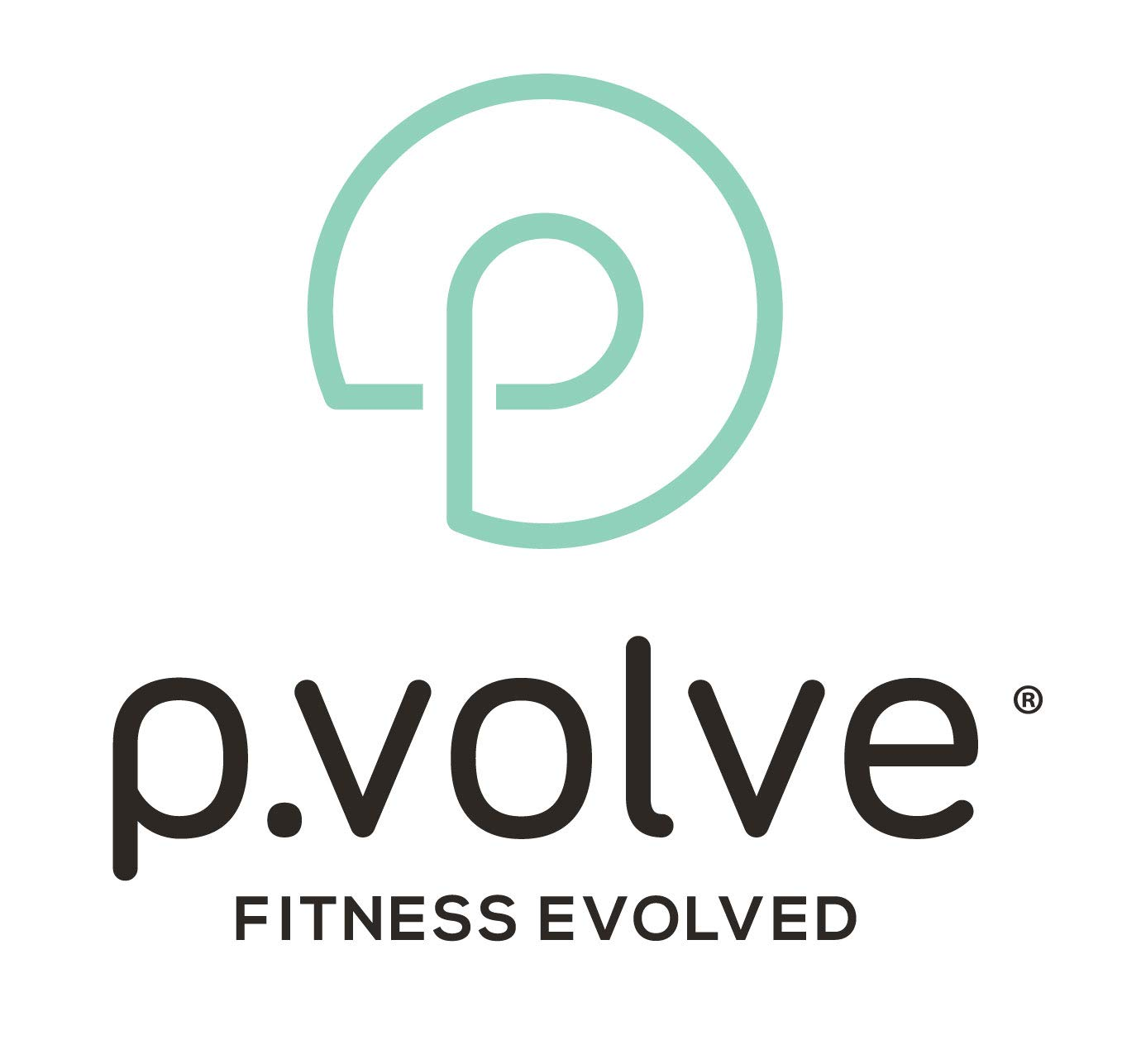 P.volve Full Body Workout Premium Kit - Complete Home Workout Equipment Includes P.Ball & P.Band Set – Women & Men Strength Training Exercise Ball & Resistance Bands for Fit and Sculpted Body (Mint)