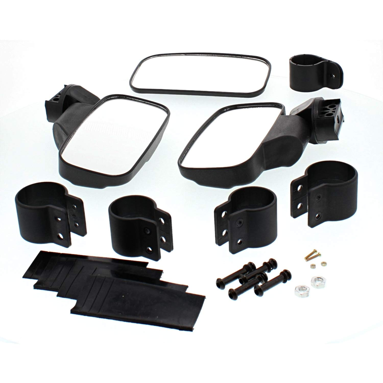NICHE Black UTV Side /& Rear View Mirror Kit for Honda Pioneer 500 550 700 1000 Niche Industries