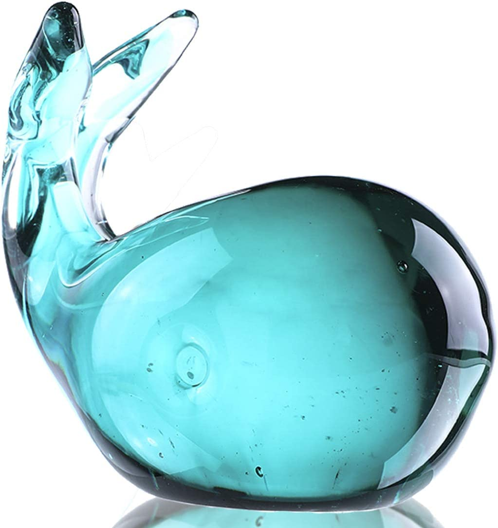 Crystalsuncatcher Hand Blown Glass Whale Figurine(Whale)