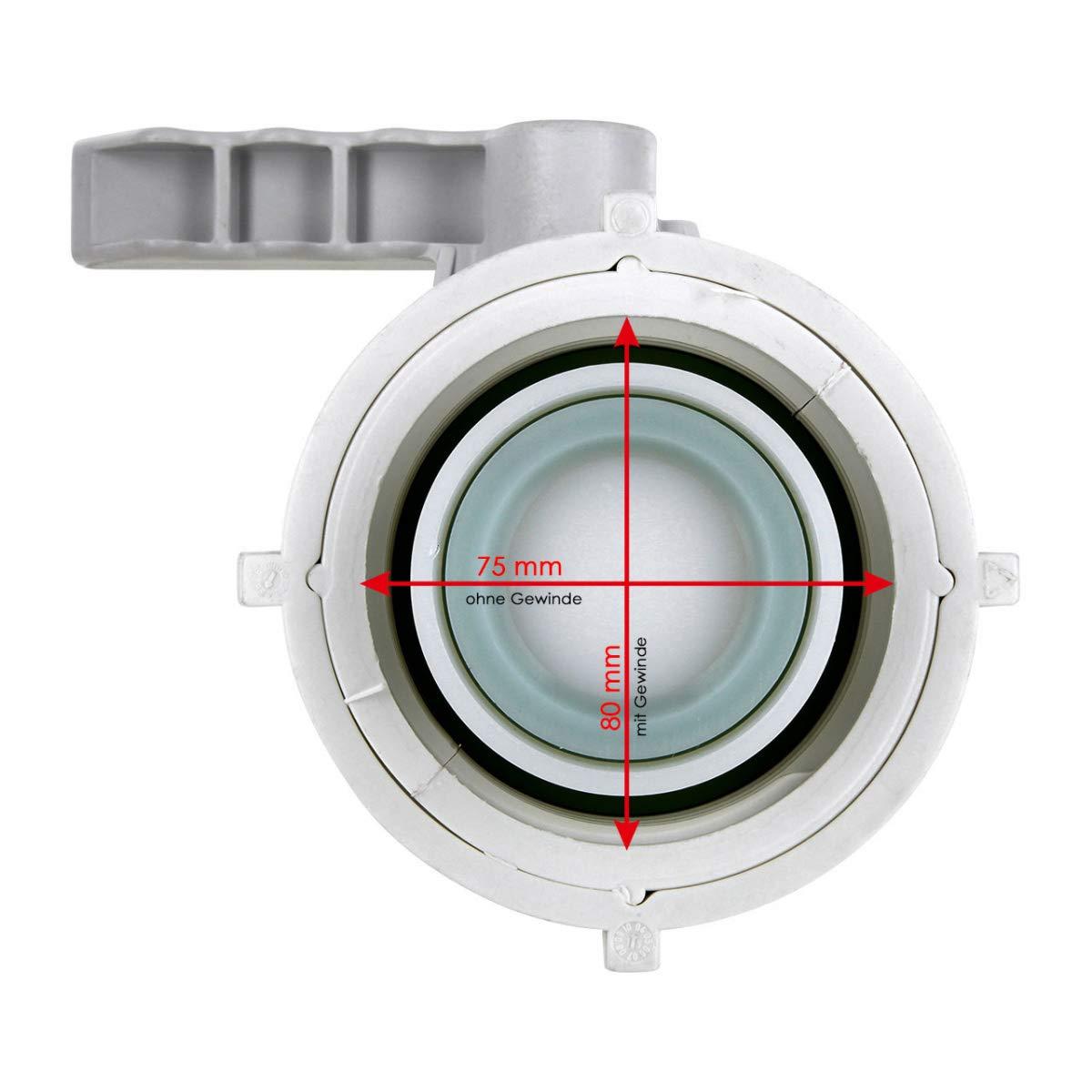 FKM//VITON DN50 80mm MAUSER IBC Klappenhahn S80x6
