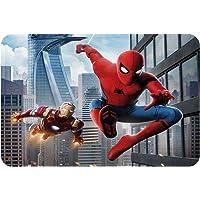 Hero Bath Mat Spiderman and Ironman, Kids Boy Bathroom Mat with Non Slip Backing