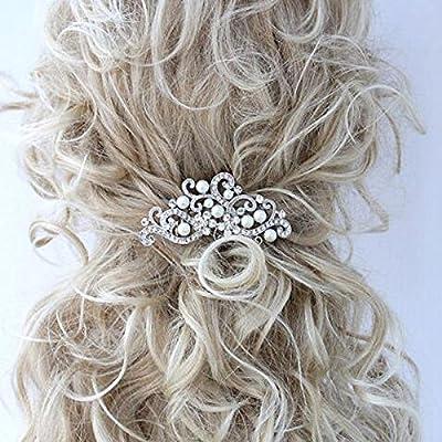 Bridalvenus Decorative Wedding Hair Combs with Rhinestones- Bridal Hair Accessories for Bridesmaids and Flower Girls
