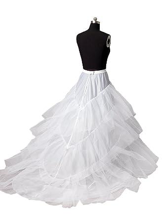 diyouth bridal white petticoatslipsunderskirtpettiskirt for wedding dresses with train