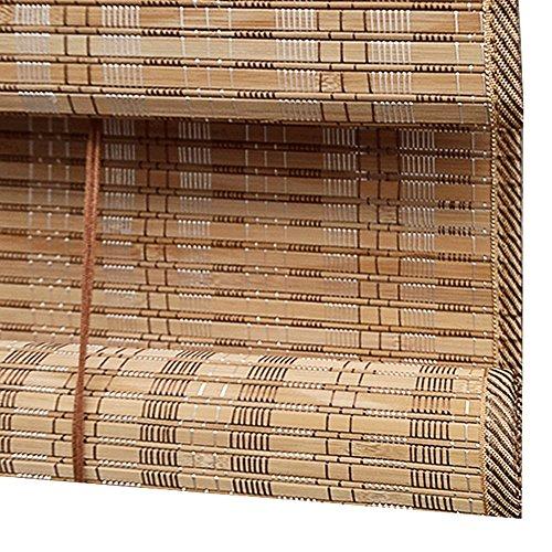 WENZHE Persiana Enrollable Romanas Estores De Bambú Persiana Enrollable Rodeando Plegable Casa, Instalación...