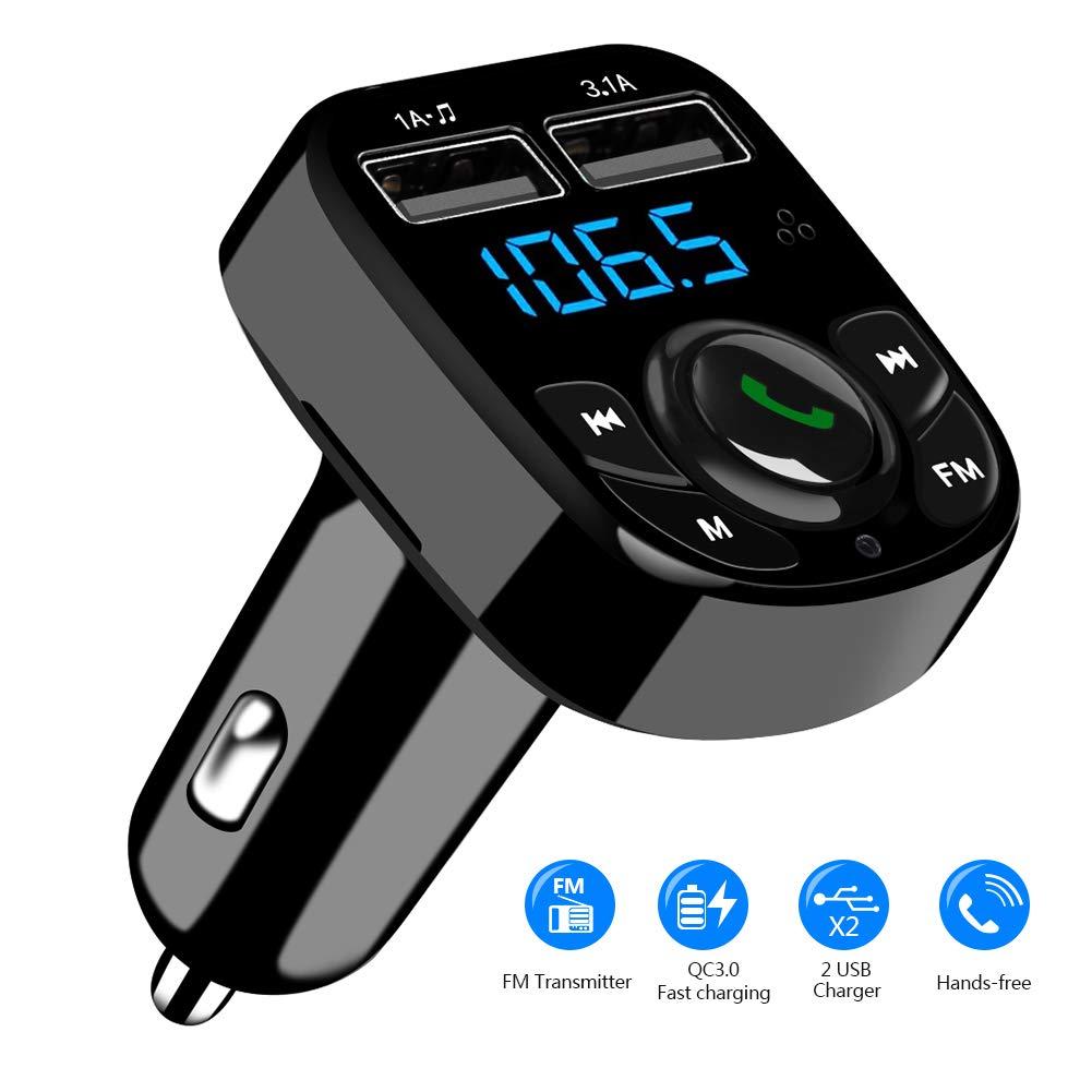 Trasmettitore FM Bluetooth per musica streaming