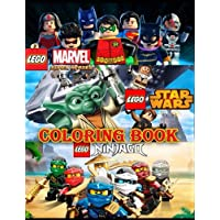 Lego 3 in 1 Coloring Book: Super Heroes (Marvel & DC), Star Wars, Ninjago, Great Coloring Pages for Kids and Adults