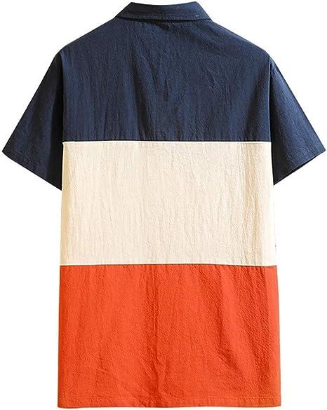 Sylar Camisas Hombre Manga Corta Hombre Polo De Manga Corta Tallas Grandes Moda Camisetas Hombre Originales Color De Empalme Camiseta Formales Tops: Amazon.es: Ropa y accesorios