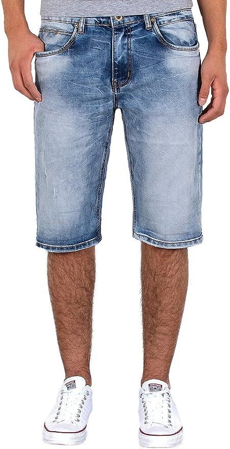 by tex Herren Jeans Shorts Herren Kurze Hosen Herren Kurze Jeans Hose Bermuda Shorts Sommer Hose A406