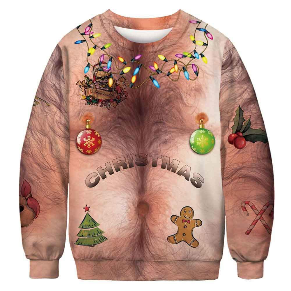 Amazon com: Cool Christmas Women Long Sleeve Sweatshirt Tops
