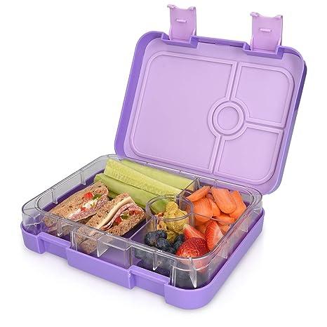 Blau Bento Box mit variablen F/ächern schmatzfatz junior Kinder Lunchbox