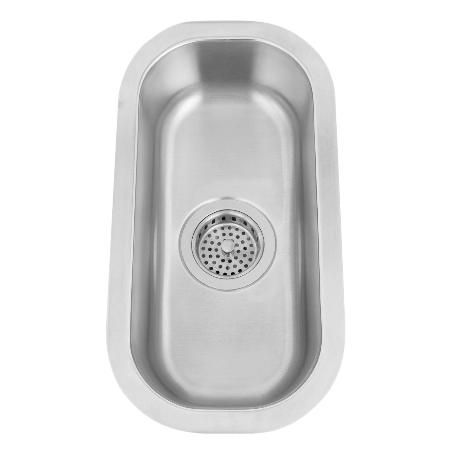 Naiture 10'' Infinite Narrow Stainless Steel Under Mount Sink Without Sink drain