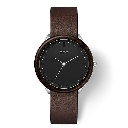 MAM Originals · Stainless Dark Ebony Cooper | Reloj de Hombre | Diseño Minimalista | Creado con Madera de ébano sostenible y Acero Inoxidable Reciclado: ...