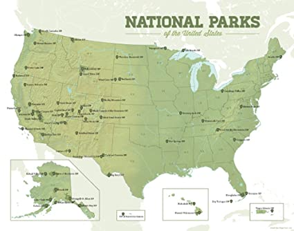 Amazon.com: Best Maps Ever US National Parks Map 11x14 Print (Army
