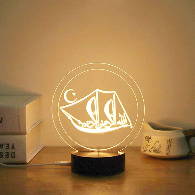 Amazon.com: CCatyam Ramadan - Guirnalda de luces LED con ...
