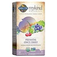 Garden of Life mykind Organics Prenatal Vitamins - 30 Tablets, Prenatal Once Daily...