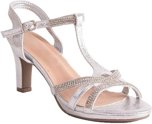 Appliquer Primtex Chaussures Mariage Argentées Forme