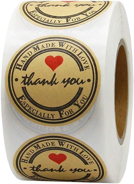Amazon.com: Hcode 500 - Etiquetas adhesivas redondas de ...