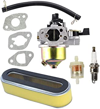 Hippotech Vergaser Mit Luftfilter Passend Für Honda Gxv120 Gxv140 Gxv160 Motor Hr194 Hr195 Hr214 Hra214 Hr215 Hr216 Hra216 Hrc216 Rasenmäher Garten
