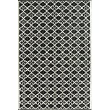 Mad Mats Scotch Indoor/Outdoor Floor Mat, 4 by 6-Feet, Black and White