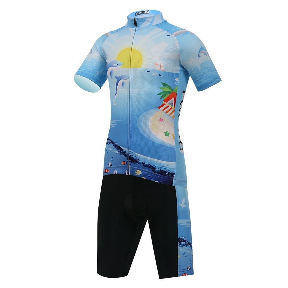 Vivi Pray Kids Cycling Jersey Set (Short Sleeve Jersey + Padded Shorts) by Vivi Pray (Image #1)