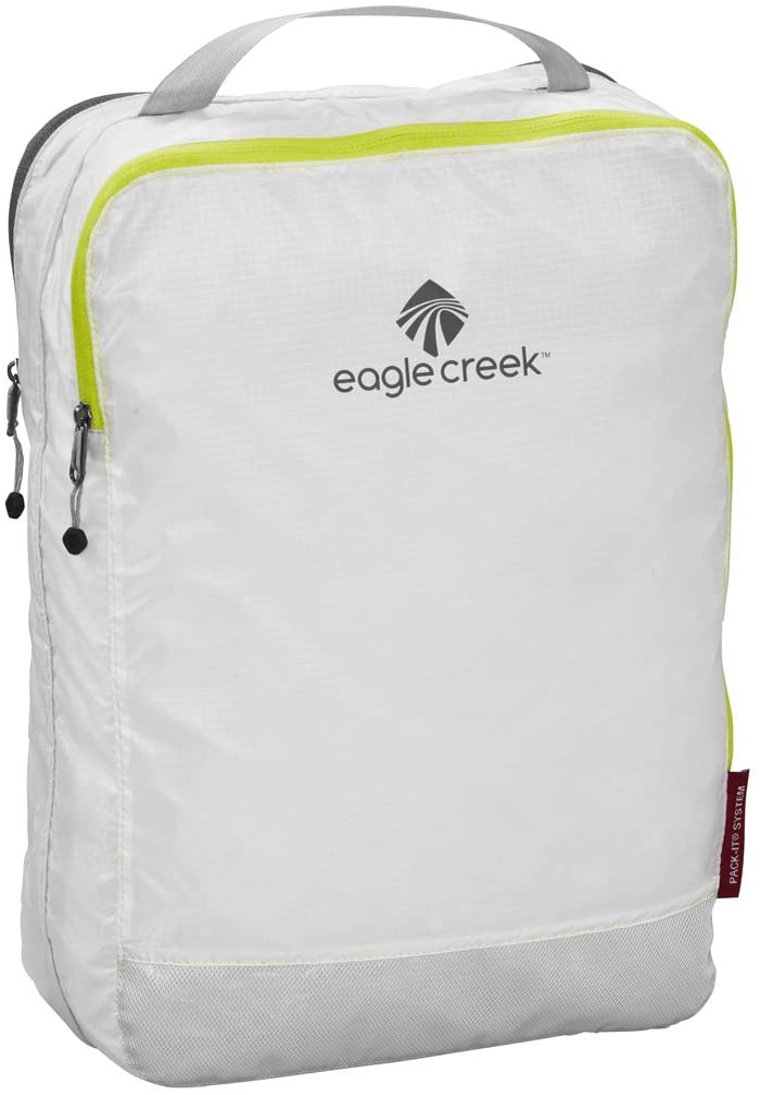 Eagle Creek Pack-It Specter Clean/Dirty Split Cube Packing Organizer, White/Strobe (M)