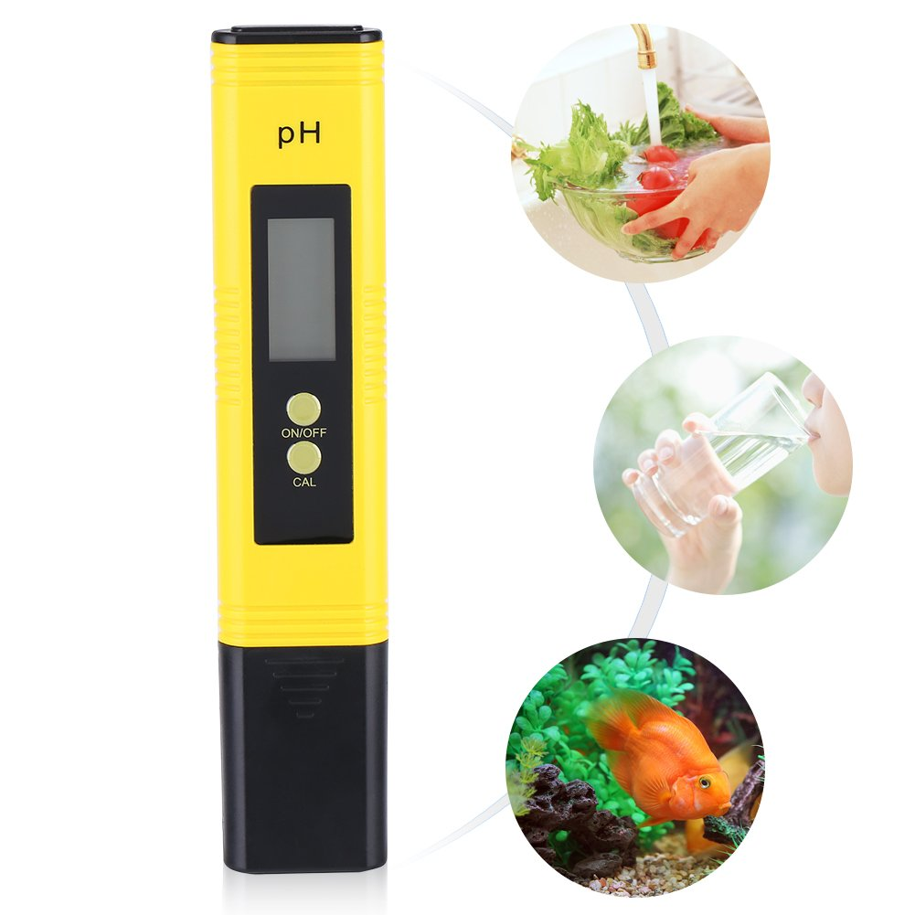 Accuracy 0.01 Measuring Range: 0.00-14.00 Protable PH Meter LCD Digital PH Meter Pen Aquarium Pool Water Wine Tester Tool Asixx PH Tester