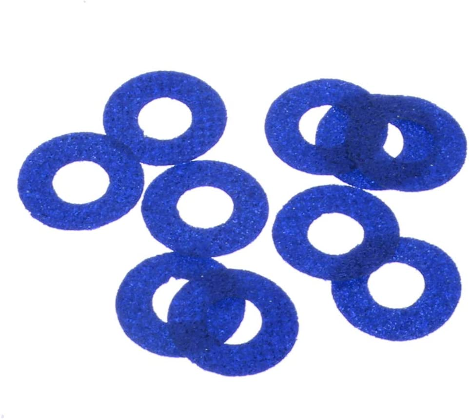 16mm Mix Colored Glitter Nonwovens Fityle 100pcs Mix Colored Plastic Round Safety Eyes Washers for Teddy Bear Soft Stuffed Toy DIY