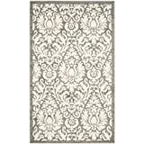 Cheap Safavieh Amherst Collection AMT427R Dark Grey and Beige Indoor/Outdoor Area Rug (3′ x 5′)