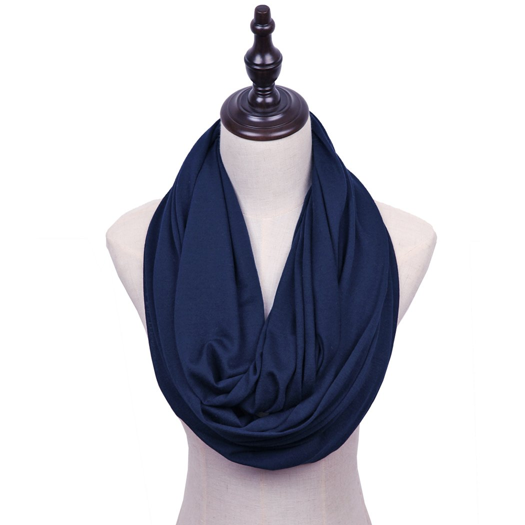 MissShorthair Lightweight Plain Infinity Scarfs for Women 2018CSolid-2